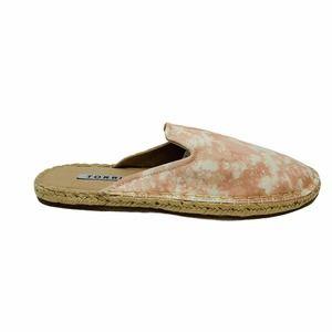 Torrid Blush Pink Canvas Espadrille Mule Shoes 9 W